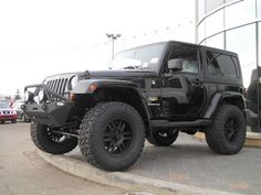 jeep wrangler lift kits | 2013 black jeep wrangler JK with 35 inch tires and black aftermarket ...