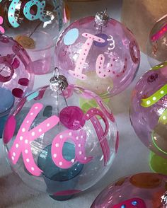handpainted glass christmas personalised ornaments by cottonprince.gr‼️