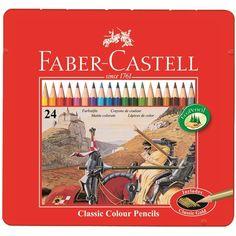 Buntstift Castle hexagonal 24er Metall Ca. 13,00€
