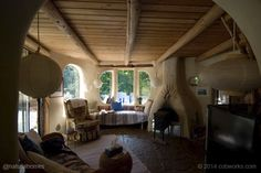This is one of a collection of six beautiful living rooms from around the world in homes built entirely from natural materials like stone, straw bales, roundwood and cob. This one is from Denmark. You can see the others at www.naturalhomes.org/natural-livingrooms-no2.htm
