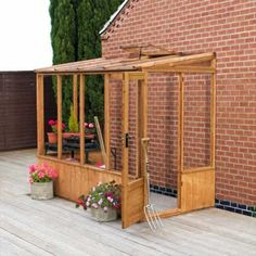 8' x 4' Groundsman Wooden Lean to Pent Unit Greenhouse
