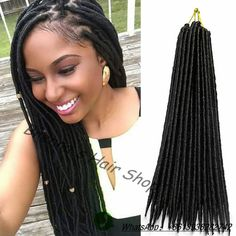 Crochet Hair Kit : ... Hair(Synthetic faux locs braids hair,crochet fauxlocs hair)100% real