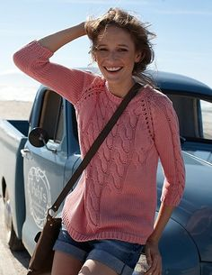 Cable & Lace Knit Sweater, from Celtic & Co