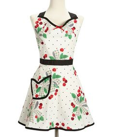 Chic chefs are sure to love this pretty and protective apron. Featuring a convenient front pocket and sash, it's a stylish piece that makes food prep fabulous. With extra-long neck and waist ties, it's made to fit all figures.