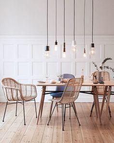 rattan dining chairs via my scandinavian home. / sfgirlbybay