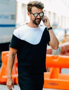 T-shirt + sunglasses