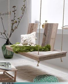 buddha interiors - Sheepskin rug (presumably) that has been dyed to look like grass. Clever idea.