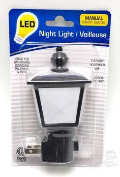 LED Night Light Lamp Cottage Shade Manual Off On Energy Efficient New #Intertek