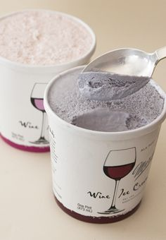 Wine Ice Cream....yes please! I have to try this someday!!