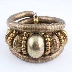 LUBINGSHINE Tibetan Antique Bronze Snake Bracelet Vintage Inlay Roundness Beads Bangles Gift Pulsera for Valentine Day JJAL B756