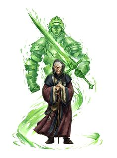 Female Old Human Iconic Spiritualist -  Pathfinder PFRPG DND D&D 3.5 5th ed d20 fantasy