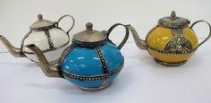 Moroccan tea pot trio