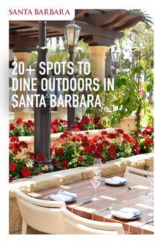 Visit Santa Barbara, Santa Barbara Beach, Santa Barbara California, California Getaways, California Vacation, Vacation Destinations, Vacation Trips, Vacations, Outdoor Restaurant