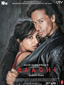 Tiger Shroff, a Bollywood actor in his second film Baaghi released in 2016 also starring Shraddha Kapoor. Hindi Movies Online Free, Latest Hindi Movies, Movies Free, 2016 Movies, Bollywood Posters, Bollywood News, Movies Bollywood, Bollywood Box, Beste Songs