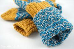 Wollsocken im Chevronmuster - Innenseite Fingerless Gloves, Arm Warmers, Blog, Pictures, Wool, Creative, Ideas, Fingerless Mitts, Photos