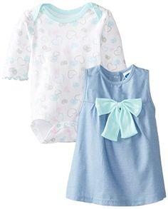 BON BEBE Baby-Girls Newborn 2 Piece Chambray Dress Set with Bow, Multi, 6-9 Months Bon Bebe http://smile.amazon.com/dp/B00KIH1O7S/ref=cm_sw_r_pi_dp_-Hzgub034FK23