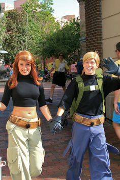 Ron Stoppable and Kim Possible #cosplay- Disney World, 2008