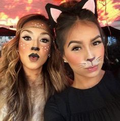 Suggestions makeup to get dressed cat Halloween! apokriatiko ntisimo