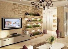 🌟 💖 🌟 💖 samples of decoration wall stone for living room Living Room Tv Unit Designs, Living Room Styles, Living Room Modern, Interior Design Living Room, Home Decor Bedroom, Living Room Decor, Living Area, Tv Unit Furniture Design, Flur Design