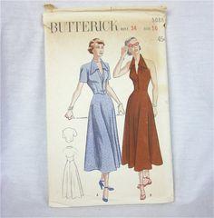 Vintage 40s Halter Sun Dress and Bolero by OldFashionedNotions, $18.00