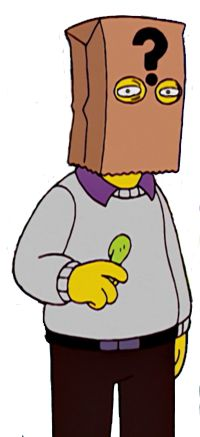 Thomas Pynchon Simpsons Characters, Fictional Characters, Thomas Pynchon, Bart Simpson, Fantasy Characters