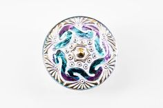 B0794B-Czech Glass Button-Whitewashed Mauve-(1)-$4.80