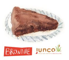 Brownie illustration, watercolor for Junco Gluten Free Food ©Flap Jackie by Maria Wright