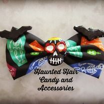 hand molded hand painted skeleton coffin fabric on single prong alligator clip  Facebook: www.facebook.com/hauntedhaircandy  Instagram: http://instagram.com/hauntedhaircandy#
