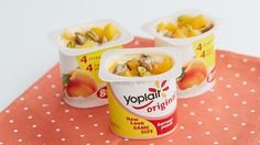 Peaches and Pistachios Yogurt Cup