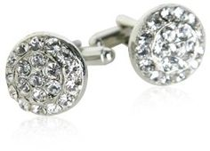Crystal Round Cufflinks by Cuff-Daddy Cuff-Daddy,  I have a shirt or two that these would just be lovely with, very professional.