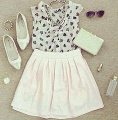 Outfit pink and white! :3