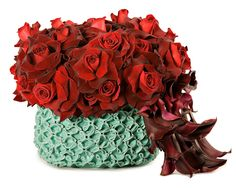 Red and Teal | Tic Tock Couture Florals
