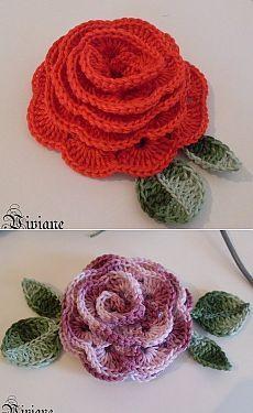 Вяжем розочки крючком Holiday Crochet, Holiday Themes, Crochet Patterns, Crochet Ideas, Crochet Flowers, Embellishments, Crochet Earrings, Knitting, Pom Poms