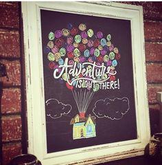 "Disney/Pixar ""UP"" chalkboard art"