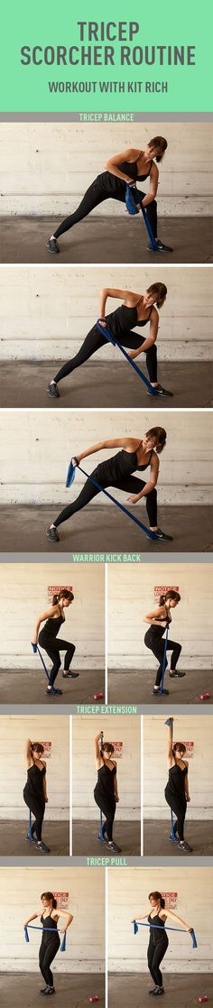 Note to self: do this as soon as you get home! TRICEP SCORCHER ROUTINE