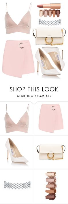 """""""Untitled #1527"""" by notifized ❤ liked on Polyvore featuring Jimmy Choo, Chloé and Charlotte Tilbury"""