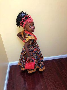 African Babies, African Children, Ankara Dress, Ankara Fabric, Yellow Fashion, Yellow Dress, Flare Dress, Baby Dress, Cute Kids