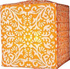 10 Hot Wedding Trends for 2013--#3 Paper Lanterns. Mango Orange Block Printed Square Paper Lanterns (www.3d-memoirs.com) #paper_lantern_weddings #paper_lanterns