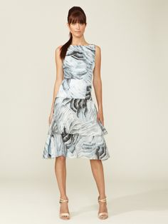 Tiered Silk Drop Waist Dress by Carolina Herrera at Gilt