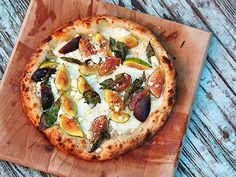 Pizza With Figs, Mozzarella, and Goat's Milk Feta....we would make the pizza base out of gluten free flour......