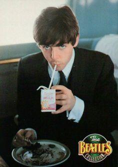 "♥♥J. Paul McCartney♥♥ The original ""got milk"" ad!"