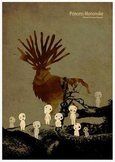 Hayao Miyazaki película Anime Poster serie la por Posterinspired