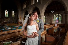Bride and Groom in Warsash Church, Warsash, Hampshire by Hampshire wedding photographers Jacqui Marie Photography.VISIT http://jacqui-marie-photography.co.uk for details.