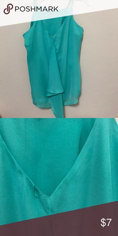 Light turquoise/green mint thin neck strap tanktop Size L/ never been worn Charlotte Russe Tops Tank Tops