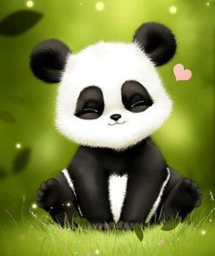 cute art with pandas Cute Panda Cartoon, Panda Kawaii, Niedlicher Panda, Panda Wallpapers, Cute Cartoon Wallpapers, Cute Animal Drawings, Cute Drawings, Cute Panda Drawing, Image Panda