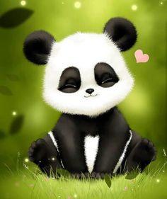 Cute baby panda art