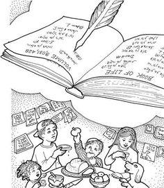 A Jewish Homeschool Blog: Yom Kippur Mini Book and Coloring Page ...