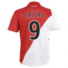 10b08b818 13-14 AS Monaco FC  9 Falcao Home Soccer Jersey Shirt As Monaco