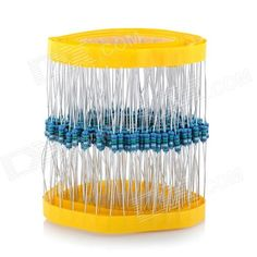 DIY 1/4W Resistance Metal Film Resistors - Blue (200 PCS). Quantity: 200 - Color: Blue - Material: Nickel-chromium + Alloy + Semiconductor - Power rating: 1/4W - Temperature coefficient: +/- 100PPM/'C - Operating temperature: -55'C~155'C - Accuracy: 1% - Resistance range: 7.5ohm - Great for DIY project - Large power load, small current noise, stable and high-frequency performance - Packing list: - 200 x Resistors. Tags: #Electrical #Tools #Arduino #SCM #Supplies #Other #Accessories