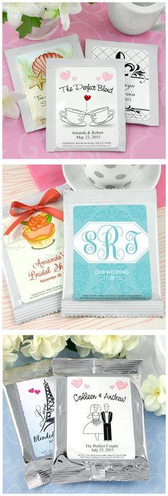 Personalized Wedding Favors // #coffee #tea #hotchocolate